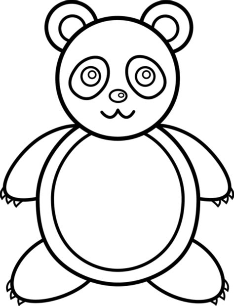 Panda Outline Drawing by Panda Line Free Clip
