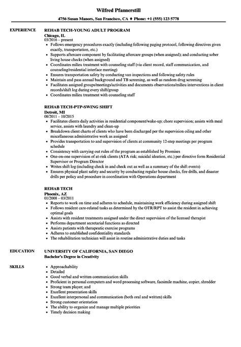 rehab resume endoscopy tech resume sles velvet business memo templates sle email memo