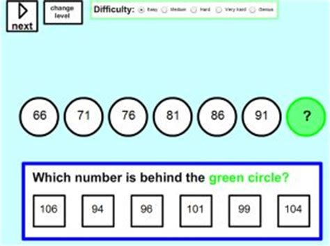 number pattern games interactive online pattern games and math sequences for kids