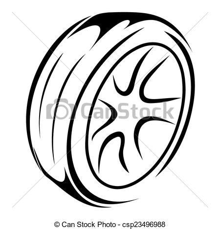 imagenes para colorear rueda vecteur de roues croquis pneu vecteur illustration