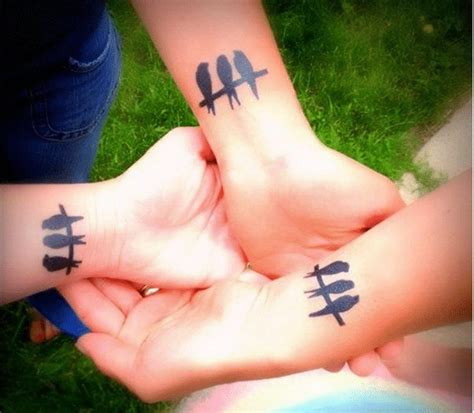 three sisters tattoo best friend tattoos 110 designs for bffs