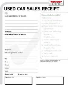 free used car receipt for pdf
