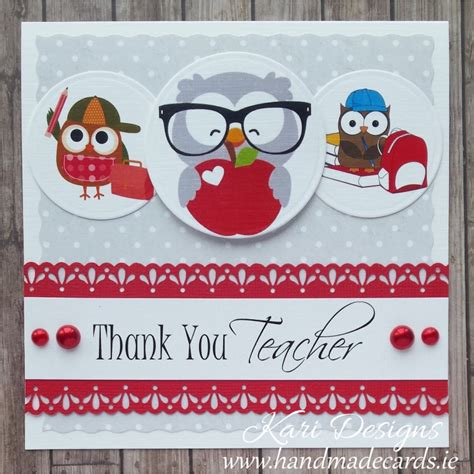 Handmade Thank You Cards For Teachers - handmade thank you card