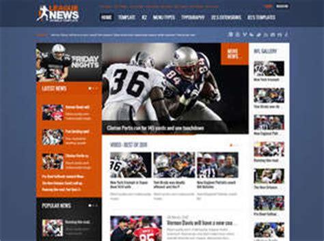 League News Joomla Template For Sport News Portal Baseball League Website Template
