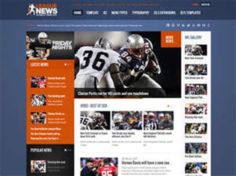 League News Joomla Template For Sport News Portal Free Sports Web Templates