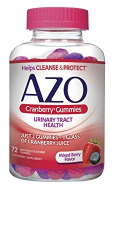 Azo Detox Pills by Azo Cranberry Gummies Urinary Tract Health Dietary