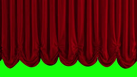 quality stage drapery opening and closing red curtain 3d animation stock