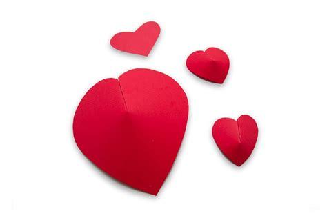 imagenes en 3d de corazones como hacer corazones de papel en 3d para san valentin o