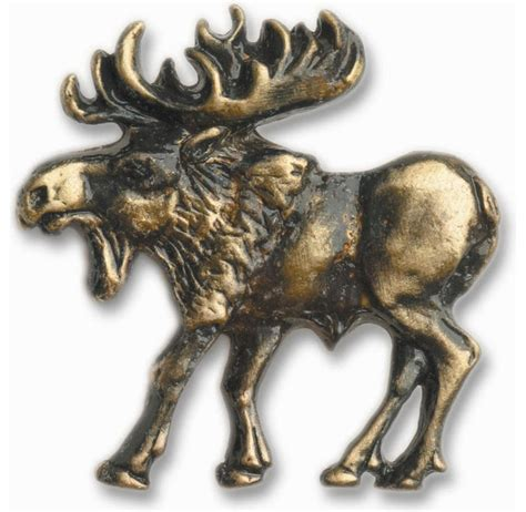 Moose Cabinet Knobs walking moose cabinet hardware knob left facing rustic