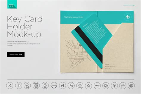 Credit Card Key Copy Template by Hotel Key Card Holder Mock Up Product Mockups On