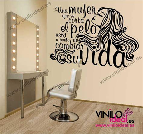 decoracion para peluquerias vinilo decorativo frase para peluquer 205 a