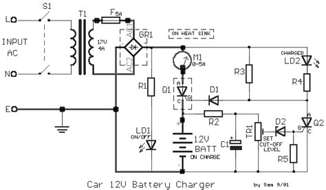 schematic wiring diagram car battery charger 12volt