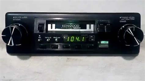 cassette car radio vintage kenwood krc 3100 am fm cassette car stereo