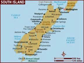 south island map political map of south island new zealand political map