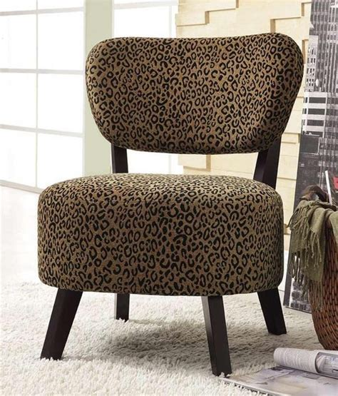 animal print chairs living room accent side chair with leopard print contemporary