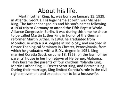 Martin Luther King Jr Birmingham Letter Summary by Martin Luther King
