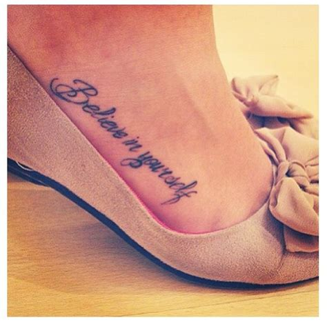 believe tattoo designs on foot word tattoos on foot