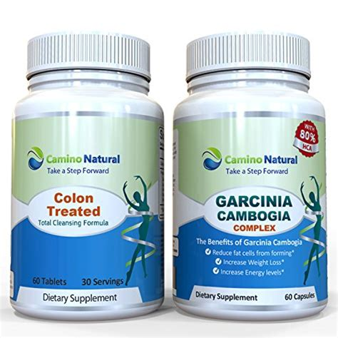 Garcinia Detox Pills by Colon Cleansing Plus Garcinia Cambogia Extract 80 Hca
