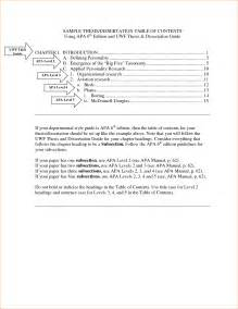 Table Of Contents Apa Style Template by Apa 6th Edition Sle Paper With Table Of Contents