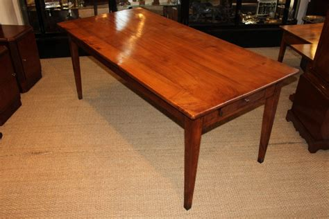 cherry wood farm house table kitchen table dining table 357143 sellingantiques co uk