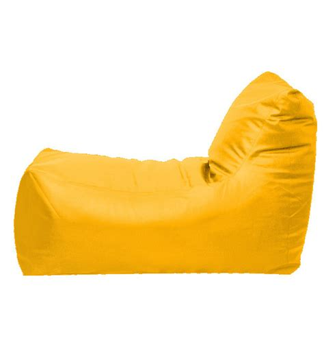 pebbleyard xxl lounger yellow bean bag chair with beans