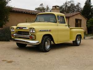 purchase used 1959 chevrolet chevy apache step side up truck in goleta california united