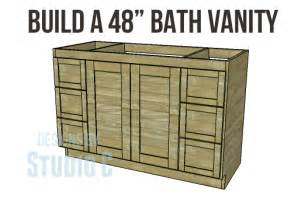 Bathroom Vanity Design Plans diy woodworking plans to build a 48 bath vanity