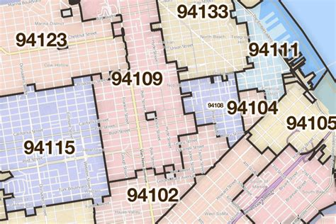 oakland zip code map san francisco oakland and the bay area california printable u s zip code boundary maps