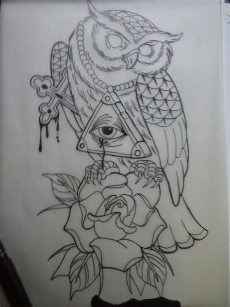 owl tattoo designs drawings owl tattoo design by treaya on deviantart