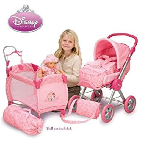 Baby Doll 1 Set disney princess baby doll stroller and play yard set toys