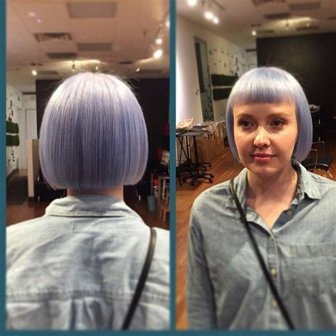 periwinkle hair cuts like this shade of periwinkle blue this formula was 5
