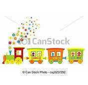 Stock De Ilustraciones  Juguete Tren Feliz Ni&241os