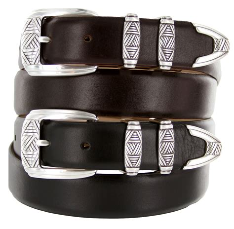 napa s designer leather dress belt