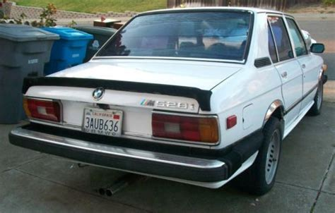 buy used 1979 bmw 528i 4 door e12 6 cylinder m30b28 bavarian motor works not running in vallejo