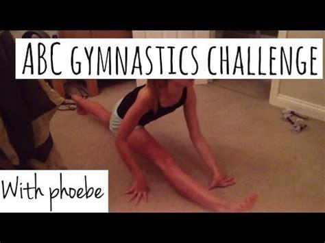 alphabet gymnastics challenge abc gymnastics challenge phoebe youtube