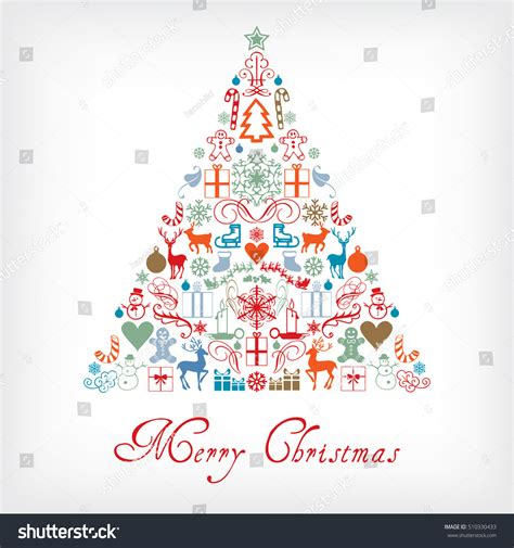 christmas cards shutterstock tree merry greeting card stock vector 510330433