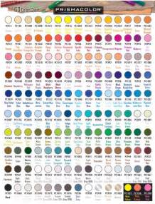 prismacolor premier colored pencil color chart portraits pinterest coloration