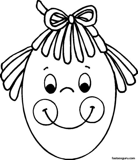 girl head coloring page girl blank head colouring templates clipart best