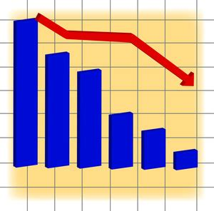 Sales Chart Down Clipart | loss clipart image a decline in sales indicated by a red