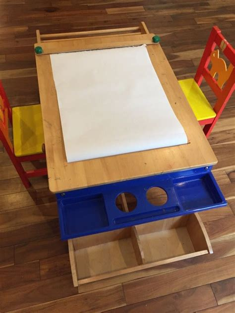 kids art table with paper roll kids art table with built in paper roll and storage baby