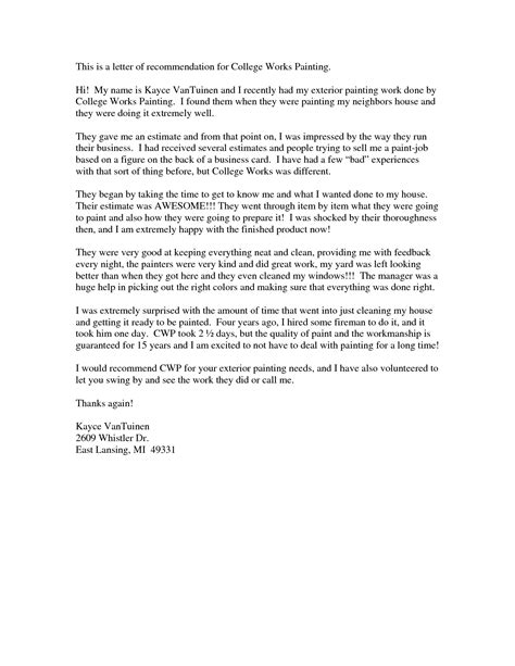 Great College Letter Of Recommendation Recommendation Letter For College Template Resume Builder