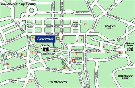 printable street map of edinburgh city centre edinburgh royal mile accommodation apartment by castle