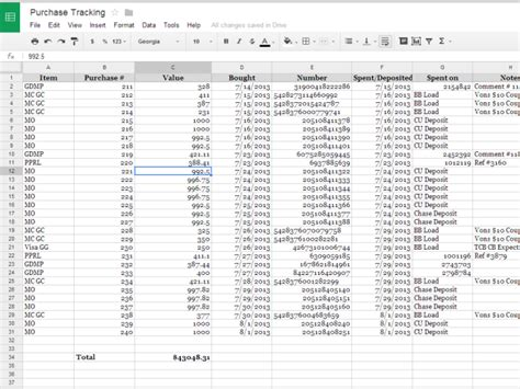 receipt tracker spreadsheet madrat co