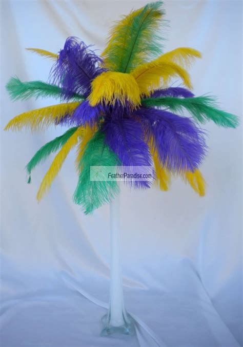wholesale mixsorted color ostrich feather centerpiecesfeather plume palm tree  sets vases