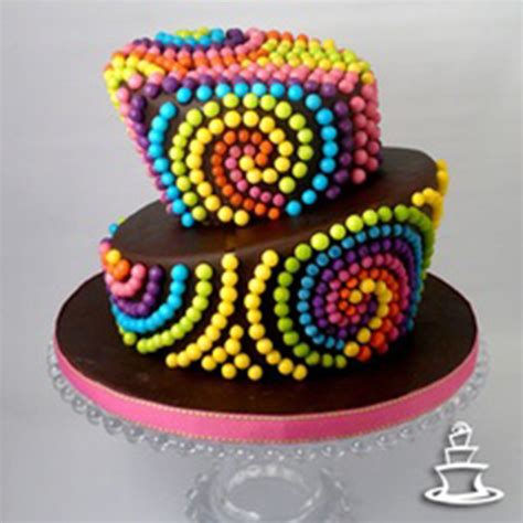 imagenes tortas originales preparaciones originales con confites de colores