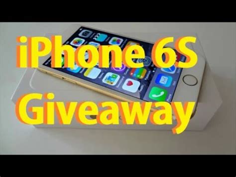 how to get free iphone 6s giveaway 2016