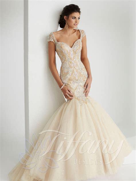 design prom dress tiffany designs 16145 prom dress prom gown 16145