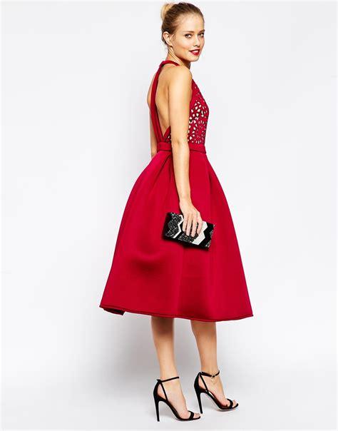 Jfashion Midi Dress Big Size Edition 1 asos premium cutout midi skater dress in lyst