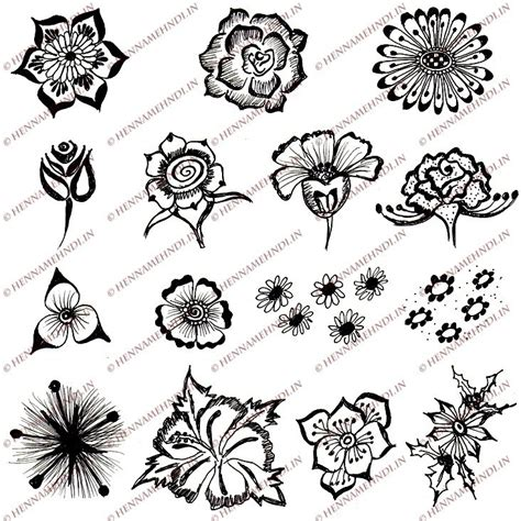 easy floral designs 15 quick and easy henna flower designs henna mehndi designs