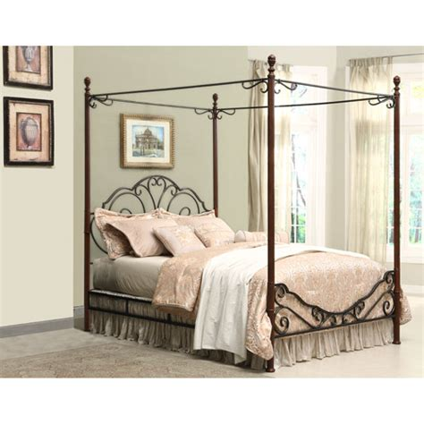 metal canopy bed adison metal king canopy bed walmart com